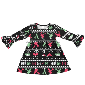 wholesale baby girl winter clothes Christmas milk silk baby frock design for new years toddler skirts latest