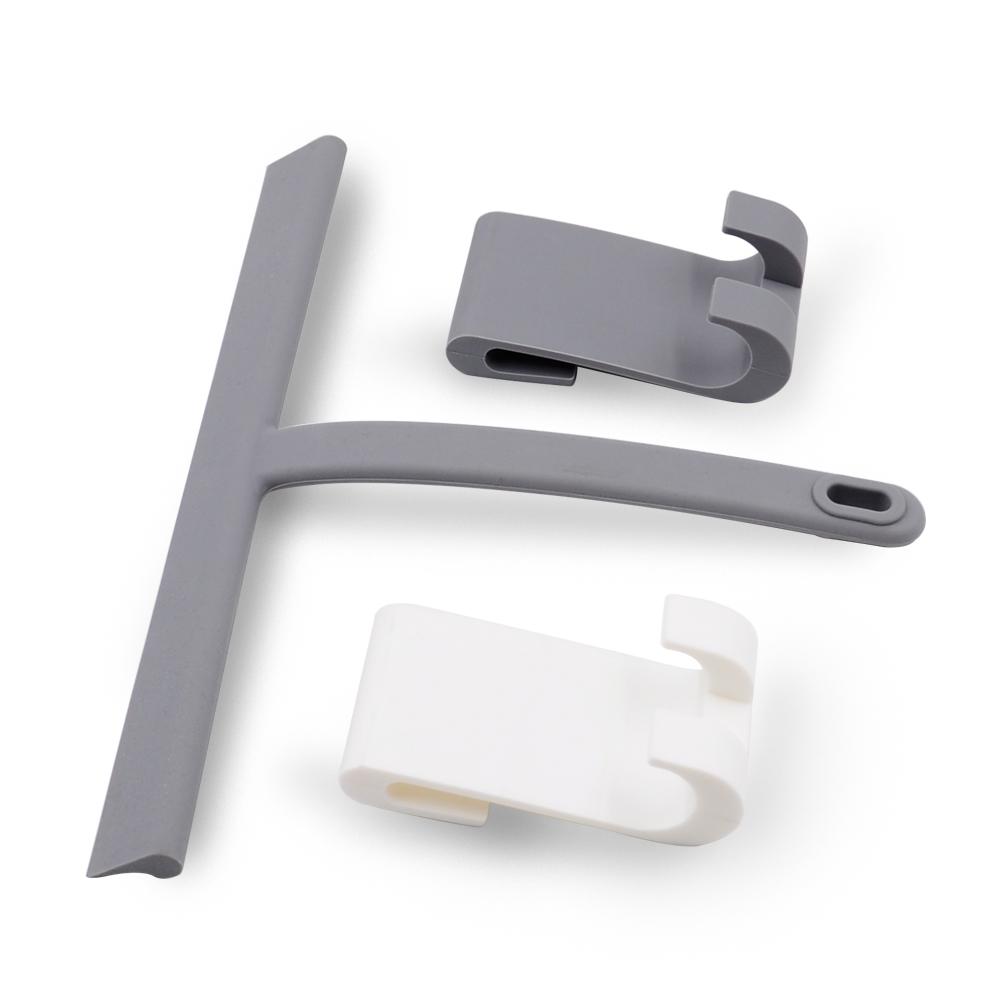 Modern Stainless Steel Squeegee Glass Shower Window Squeegee Hooks