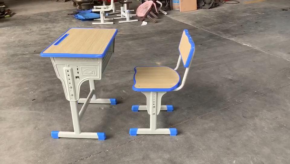 مدرسة الاطفال دراسة طاولة قابلة للضبط كرسي معدني أثاث الفصول الدراسية
