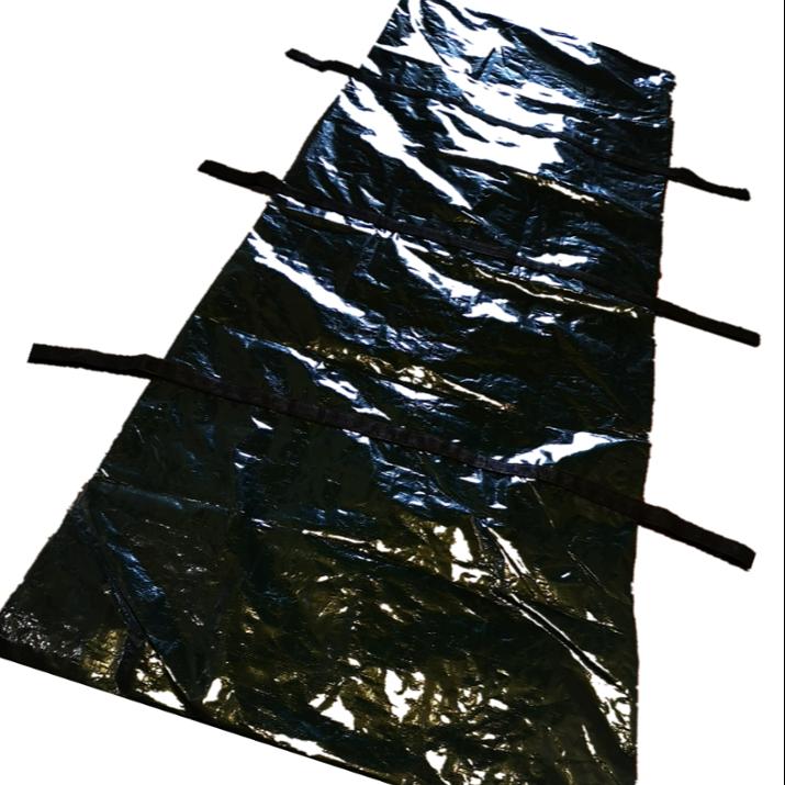 Stokta. Tek kullanımlık ceset kadavra tabut cenaze vücut çantası ölü vücut 6 güçlü kolu PEVA veya PE malzeme