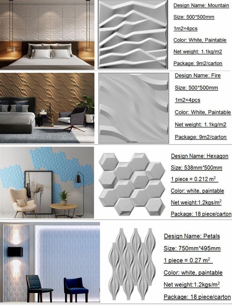 Paintable decoración interior para hotel Baño de moda impermeable papel de pared 3d