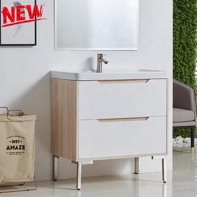 Hot sale simple modern popular high end single bathroom vanity