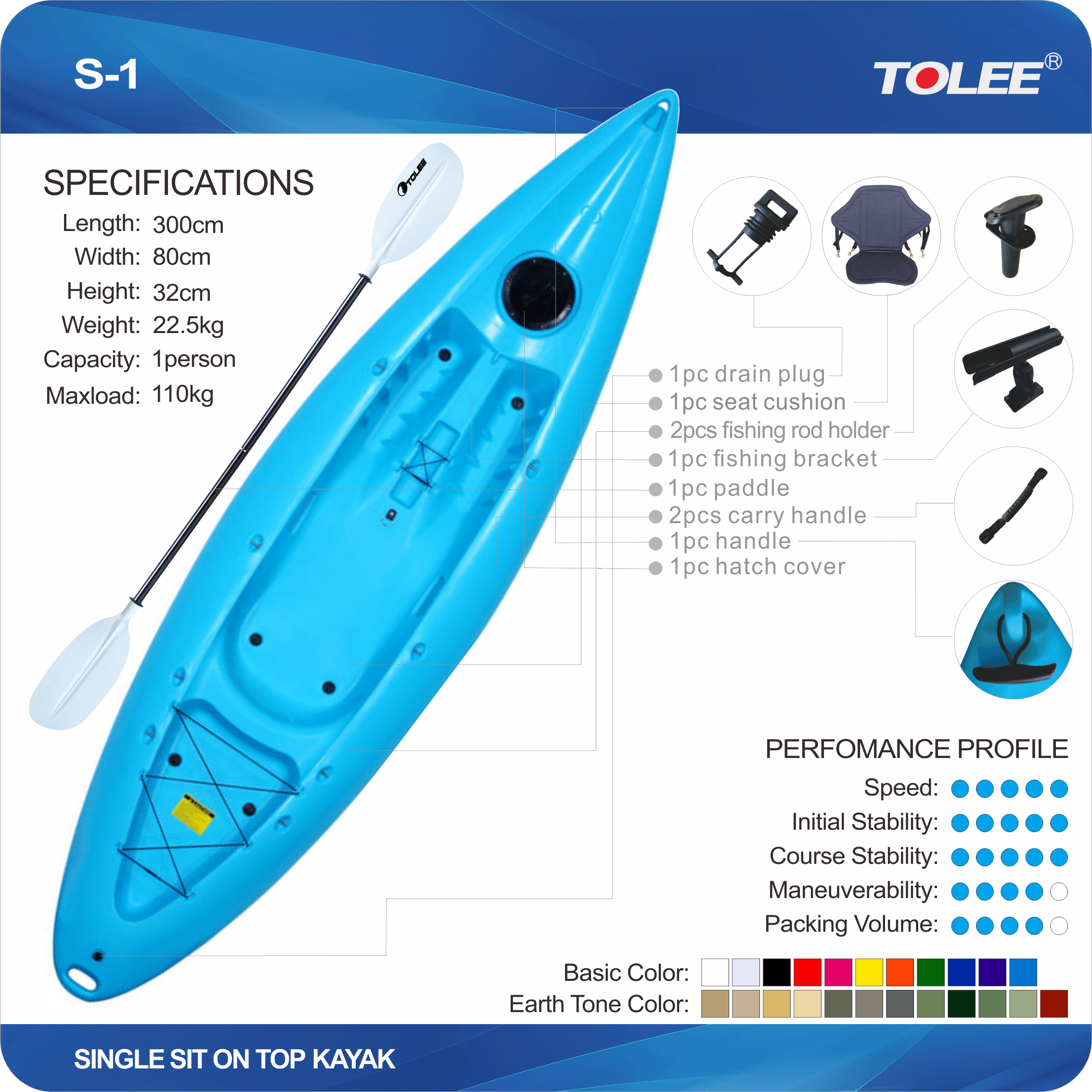 9.8Ft Single Tolee Factory Colorful Inflatable Rubber Kayak Glass Fish Bowl Rowing Boats