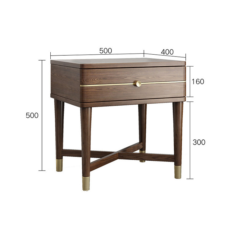 product-BoomDear Wood-modern wooden bedside table nightstands newly listing latest dark color movabl-1