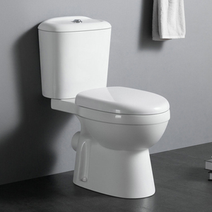 C1004 Factory direct sell sanitary ware p trap 2 piece wc bathroom toilet for home hotel