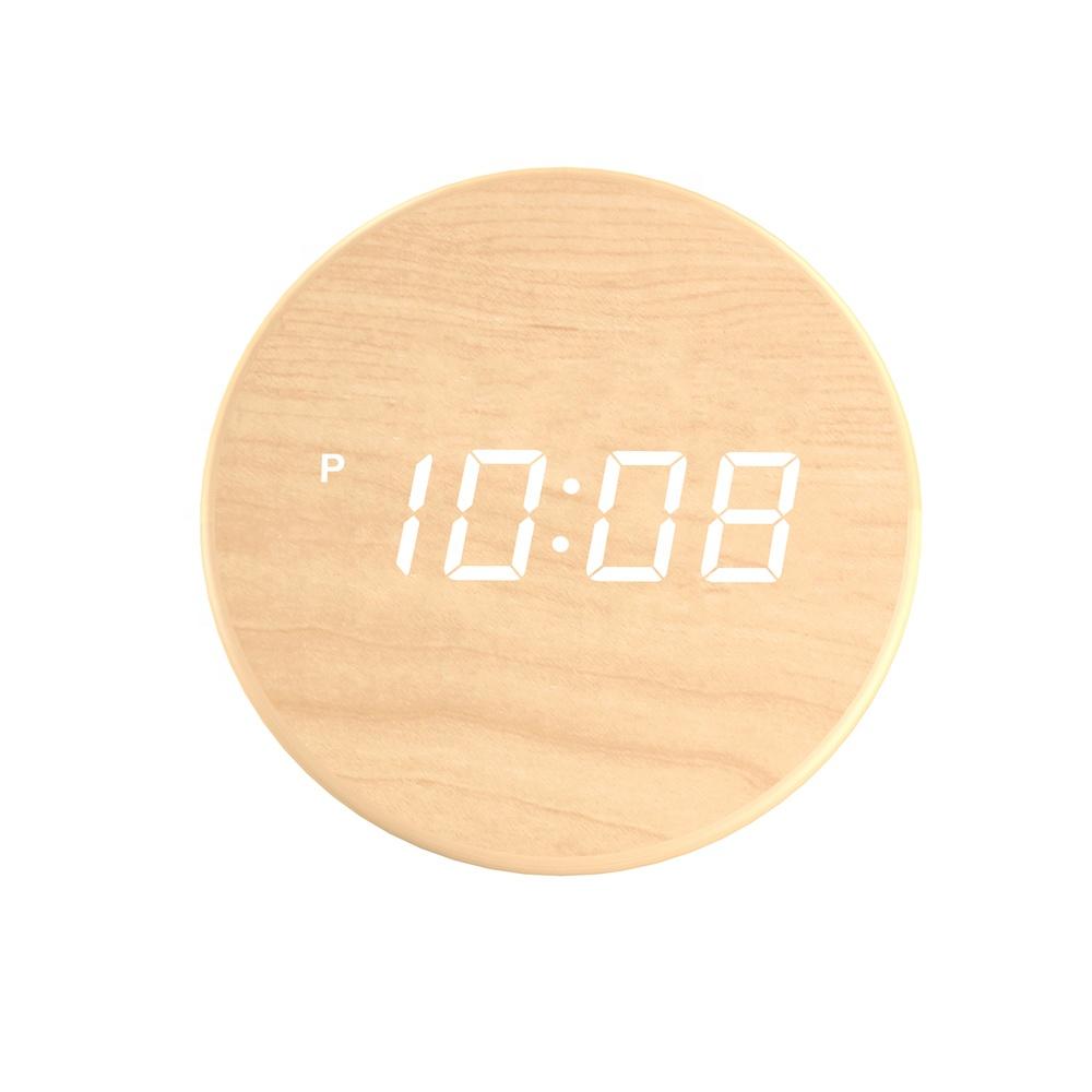 Gran creativo digital diseñado moderno led relojes digital LED Relojes de pared de madera