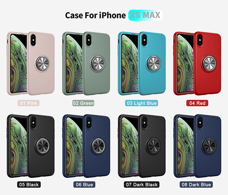 Hot Amazon Ring Holder Liquid Silicone Phone Case For Iphone X, Magnetic Function Phone Cover For Iphone XR XS MAX
