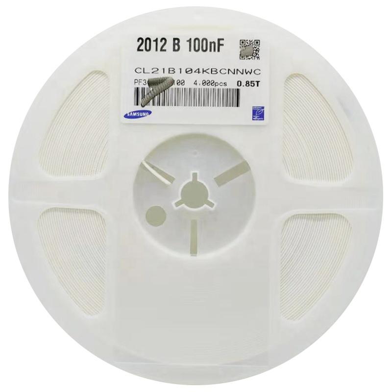 원래 제품 MLCC 다층 칩 0805 100NF 0.1 미크로포맷 10% 104k 50V SMD 세라믹 콘덴서