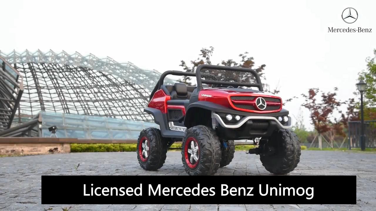 Lisensi Unimog Mini Power Wheel UTV Anak Naik Mobil 12V Mainan Mobil Listrik Anak Dioperasikan Baterai dengan Lampu Pencarian