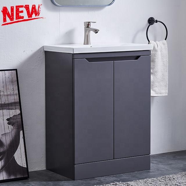 사용자 정의 새로운 현대 handless 디자인 MDF 단일 싱크 목욕 허영