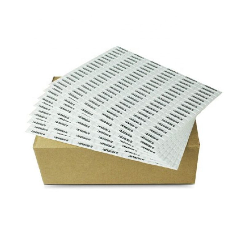 EAS security soft tag 3 chips barcode Adhesive 58khz am dr label for supermarket