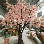 Trees Wholesale High Simulation Big Artificial Plants Cherry Trees Pink Flower Artificial Big Trees For Wedding
