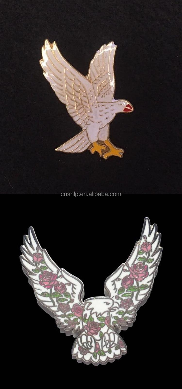 Enamel Lapel Pin Hawk