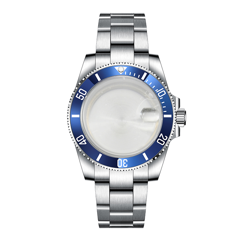 Watches parts Fit ETA 2836/2813 miyota 82 series NH35 Watch <strong>Case</strong> 40mm <strong>ceramics</strong> bezel stainless steel strap