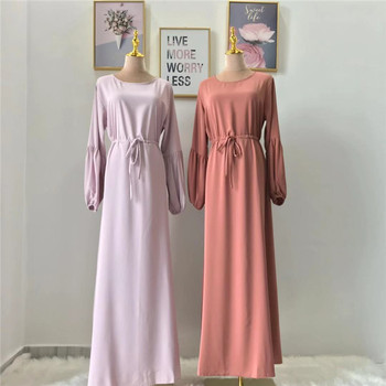 2019 new arrival fashion design high quality polyester muslim women dress abaya with belt dubai