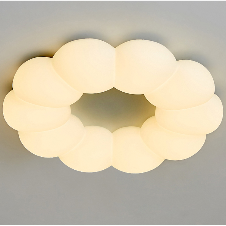 Flower PE diffuser wide light emitting dimmable LED ceiling chandelier for living room ceiling light