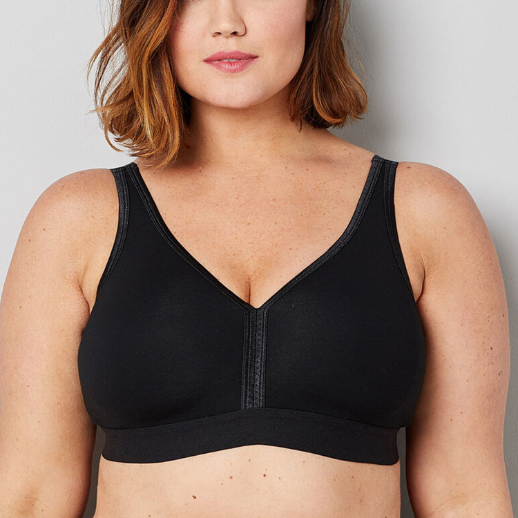 Khaya Plus Size No Padding Comfortable Removable Adjustable Strap Big Size <strong>Cup</strong> Bra