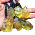 wholesale natural citrine Quartz original stone Healing crystal for necklace pendant