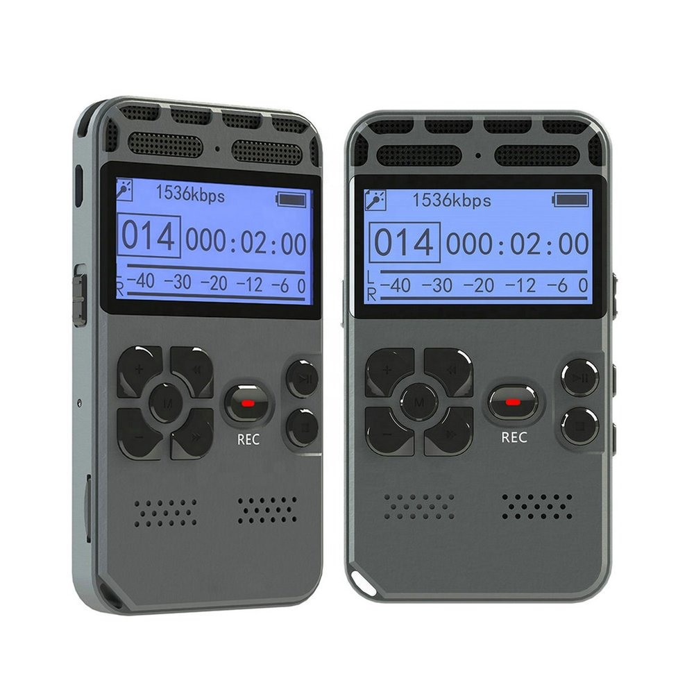 V35 Professional Voice Recording Device Time Display Large Screen Digital Voice Audio Recorder Dictaphone MP3 Player