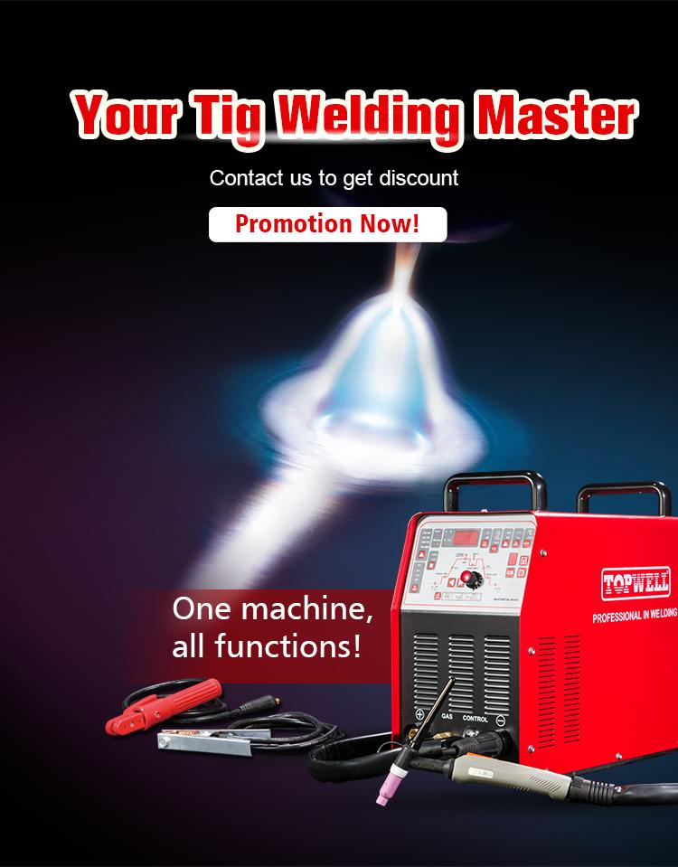 2019 TOPWELL 2 Wave forms TIG welder 250 AC DC TIG Welding Machine MASTERTIG-250
