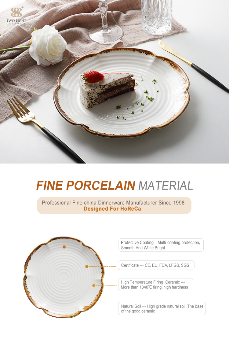 High Quality Designer Dinner Plates Unitque Shape, Plate Chinese Restaurant&