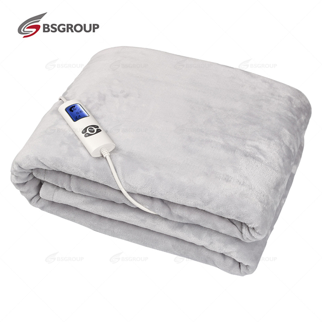 CE GS 180*130CM Cosy Flannel Fleece Electric Heated Blanket for Cover Body with Intelligent Temperature Control