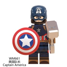 WM661 Super héros legoes La Finale Capitaine Americaed mini figurines Fer mini homme Blocs De Construction Bloc De montage hommes