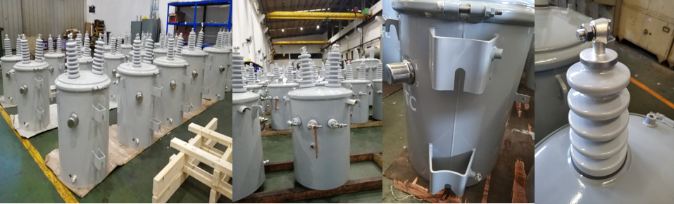 100kva single phase oil immersed pole mounted transformer
