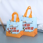 Cheap Non Woven Bags Cheap Manufacture PP Non Woven Fabric Takeaway Bags Custom Printed Logo Food Bags