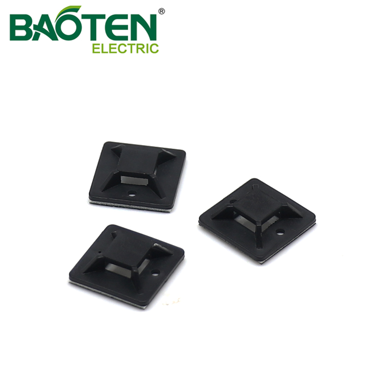 BAOTENG BT high quality plastic Cable Tie Mounting Base hole saddle Tie Mounts
