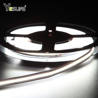 no dot high density flip chip led flexible 2700k 10w 24v fob cob led strip light warm white