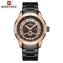 NAVIFORCE мужские часы лучший бренд класса люкс мужские модные золотые деловые Часы повседневные часы Дата и неделя дисплей наручные часы Relogio ...(China)