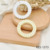 Resin Pearl Hollow Circle Charms Pendant For Jewelry Making RES-1373