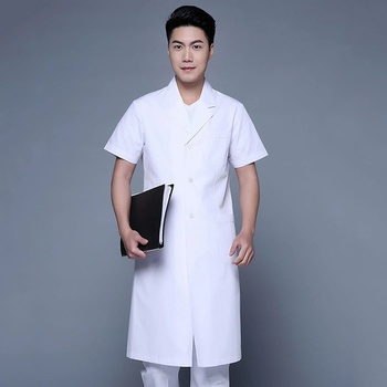 polyester cotton Lab coat for hospital doctor nurse uniform Guangzhou Factory