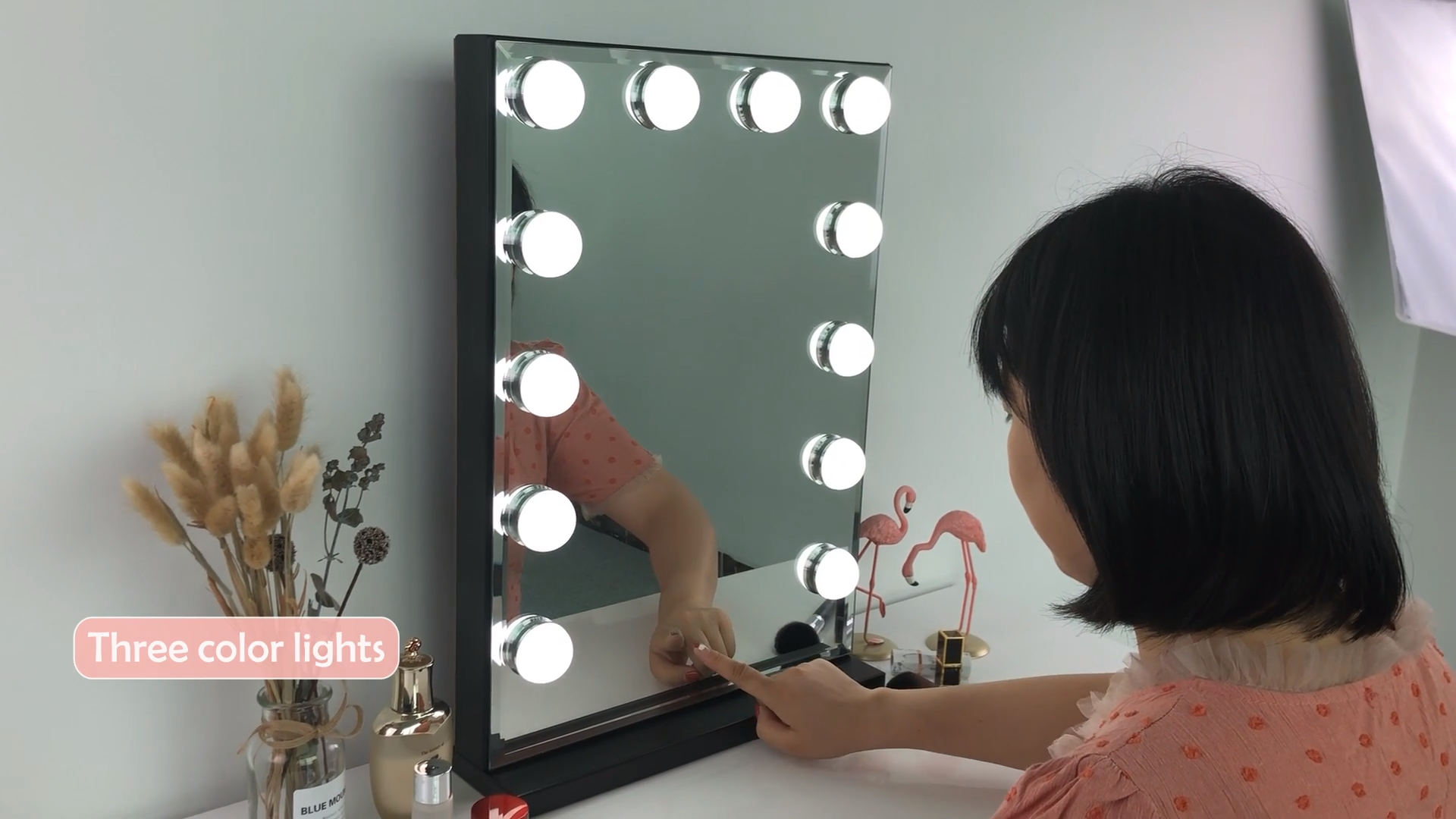 Factory direct supply wholesale large size  top seller vanity LED hollywood bath makeup mirror with lights cosmetic led mirror