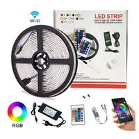 waterpoof 12v 24v 5050 rgb rgbw Smart Wifi bluetooth app controlled led strip light