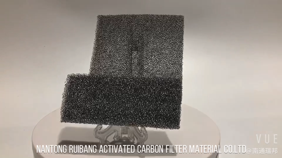Manufacturing Activated Carbon Sponge  Dust Filter Mesh