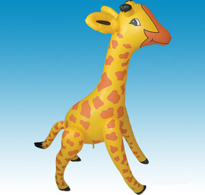 EN71 testing factory wholesale and custom PVC inflatable giraffe toys