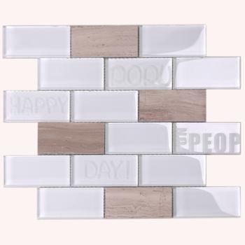 Super White Beveled Square Marble Stone