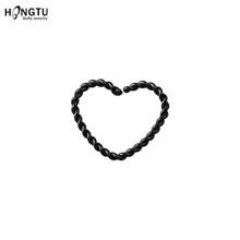 1 шт сердце круглый поддельный нос кольцо обруч перегородка кольца хирургический стальной нос не пирсинг серьги поддельные пирсинг Oreja пирс...(China)