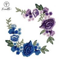 2020 wholesale eco-friendly custom 3d flower patch embroidery design