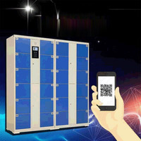Supermarket smart barcode send storage cabinet / / cinema electronic coin bar code lockers