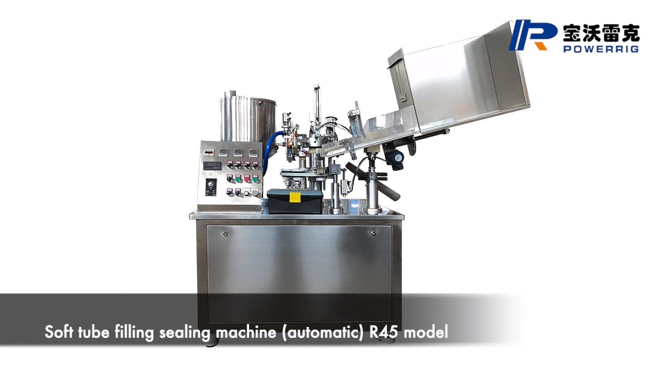 Small type automatic plastic tube filling sealing machine for cosmetic cream