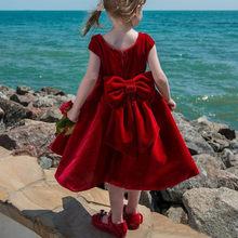 Кружевные платья с длинными рукавами и цветочным узором для девочек; 2020 г.; Бальное платье принцессы для маленьких девочек; Платье для сваде...(Китай)