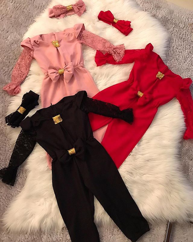 2020 New Baby <strong>Girl</strong> Clothes <strong>Fashion</strong> <strong>Kids</strong> <strong>Girl</strong> Sets 2Pcs Lace Flare Sleeve Bow Romper Headband Child <strong>Girl</strong> Clothes Streetwear 1-5Y
