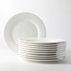 Factory Wholesale 8 10 12 Inch White Plates Ceramic Dinner Plate Restaurant Porcelain Dishes