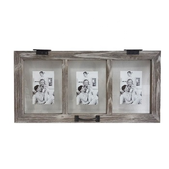 Hanging wall design hot art photo frame wood picture