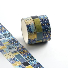 Groothandel custom gedrukt folie washi <span class=keywords><strong>tape</strong></span>, diverse ontwerp washi <span class=keywords><strong>tape</strong></span> decoratieve school briefpapier