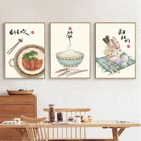 Chinese restaurant wall art frames artwork painting prints decor
