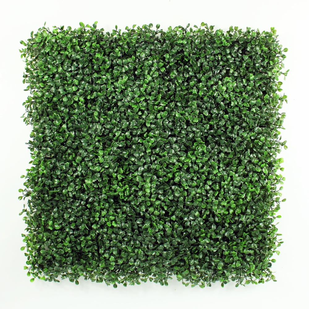 Decorative plastic artificial green plant boxwood hedge fence mat panel vertical garden wall for outdoor